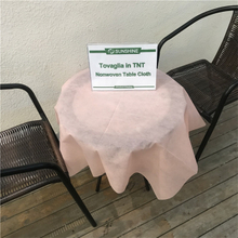Disposable Polypropylene Spunbond Non Woven Fabric Pre-cut Non Woven Tablecloth