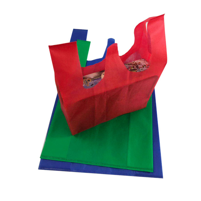 High Quality Cheap Disposable Eco-friendly Non Woven Spunbond Shopping Bag T-shirt Bag