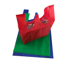 Popular PP Nonwoven T-shirt bag use colorful pp spun bond non woven fabric