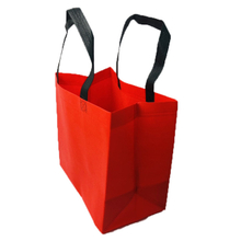 2021 Red Handle Bag Pp Non Woven Fabric for Shopping Bags Manufacturer