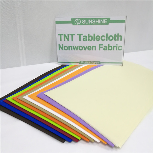 Disposable TNT Nonwoven Tablecloth Hotel Use PP Non Woven Table Cloth