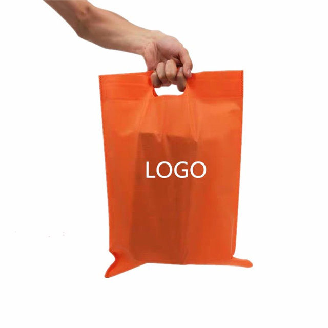 Non woven shopping D-cut bag high quality pp spunbond nonwoven fabric