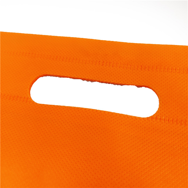 Eco-friendly Cheap Non Woven Shopping D-cut Bag Pp Non Woven Bag