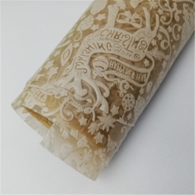 Factory wholesale embossed PP non woven fabric for gift flower wrapping